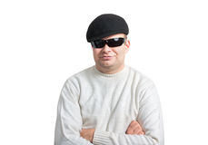 Ritratto dell'uomo sicuro in occhiali da sole Immagini Stock