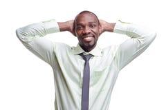 Ritratto dell'uomo sorridente del giovane africano nero bello Fotografia Stock Libera da Diritti