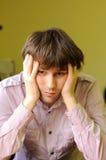Ritratto dell'uomo triste Fotografia Stock