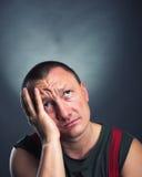Ritratto dell'uomo triste Immagini Stock Libere da Diritti
