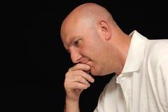 Ritratto dell'uomo triste Fotografie Stock Libere da Diritti