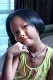 Ritratto della bambina asiatica Fotografie Stock Libere da Diritti