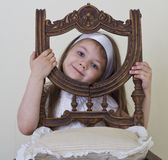 Ritratto della bambina bella divertente Immagini Stock Libere da Diritti