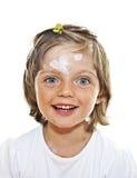 Ritratto della bambina con varicella Immagini Stock