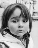 Ritratto della bambina gridante triste fotografie stock libere da diritti