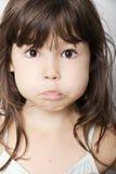 Ritratto della bambina impressionabile Fotografia Stock