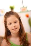 Ritratto della bambina nel paese Immagine Stock
