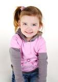Ritratto della bambina sorridente felice Immagini Stock