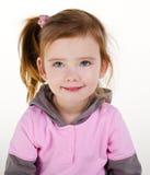 Ritratto della bambina sorridente sveglia Fotografie Stock