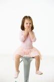 Ritratto della bambina sveglia Fotografia Stock
