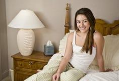 Ritratto della camera da letto della donna fotografie stock