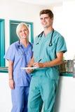 Ritratto della clinica del controllare Fotografia Stock
