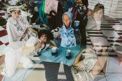 Ritratto della colata - Ubu Roi da Alfred Jarry - Miami Immagine Stock