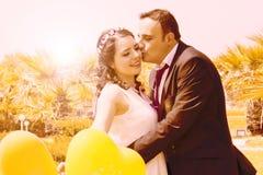 Ritratto della coppia sposata felice Immagini Stock
