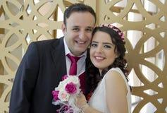 Ritratto della coppia sposata felice Immagine Stock