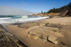 Ritratto della costa dell'Oregon Immagini Stock