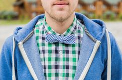 Ritratto della cravatta a farfalla di modo Fotografie Stock Libere da Diritti