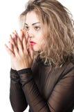Ritratto della donna alla moda appassionata fotografia stock libera da diritti