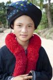 Ritratto della donna asiatica Yao dal Laos Fotografie Stock