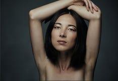 Ritratto della donna attraente della corsa mixed Fotografia Stock
