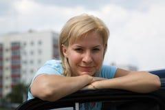 Ritratto della donna bionda Immagini Stock Libere da Diritti