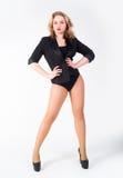 Ritratto della donna bionda sexy Fotografia Stock