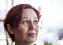 Ritratto della donna con capelli rossi Fotografie Stock Libere da Diritti