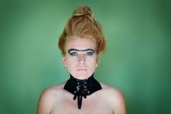 Ritratto della donna con il collare Immagini Stock