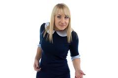 Ritratto della donna con le mani aperte Immagine Stock Libera da Diritti