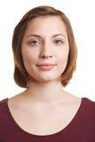 Ritratto della donna con lo spazio in bianco Immagine Stock