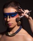 Ritratto della donna con trucco di arte immagine stock libera da diritti