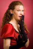 Ritratto della donna con un'espressione di rifiuto Fotografia Stock