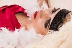 Ritratto della donna deauty senza vita Fotografie Stock