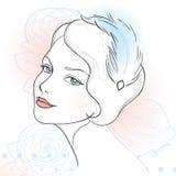 Ritratto della donna dell'annata illustrazione vettoriale