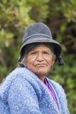 Ritratto della donna della Bolivia che vive in Isla Del Sol, Bolivia Fotografia Stock Libera da Diritti