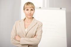 Ritratto della donna di affari. immagini stock libere da diritti