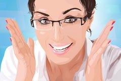 Ritratto della donna di affari illustrazione di stock