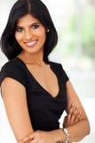 Donna di affari abbastanza indiana fotografie stock libere da diritti