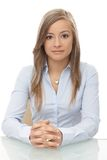 Ritratto della donna di affari attraente Immagine Stock