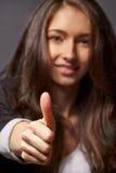Ritratto della donna di affari con i sorrisi Fotografie Stock