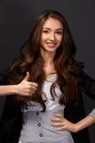 Ritratto della donna di affari con i sorrisi Immagine Stock Libera da Diritti