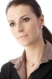 Ritratto della donna di affari del primo piano Fotografia Stock Libera da Diritti