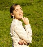 Ritratto della donna di affari felice Fotografie Stock Libere da Diritti