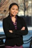 Ritratto della donna di affari filippina Immagini Stock