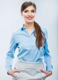 Ritratto della donna di affari Giovane ragazza sorridente dell'allievo Immagine Stock