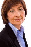 Ritratto della donna di affari maggiore immagini stock libere da diritti