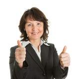 Ritratto della donna di affari maggiore sucessful Fotografia Stock