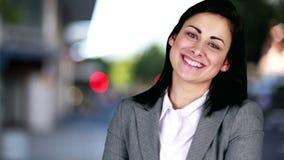 Ritratto della donna di affari sorridente video d archivio
