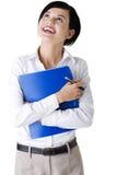 Ritratto della donna di affari sorridente felice Immagine Stock Libera da Diritti