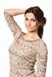 Ritratto della donna di bellezza Fotografia Stock